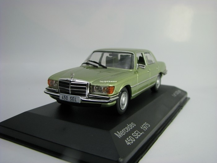 Mercedes 450 SEL 1975 Metallic Green 1:43 White Box